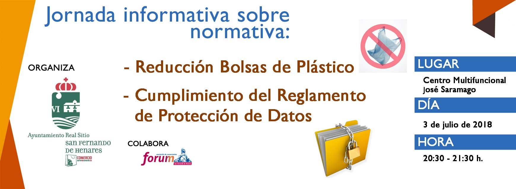 Jornada informativa sobre normativa: Bolsas de plástico – Protección de datos