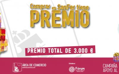 Premios del Sorteo ante notario de 3.000€ más 31 regalos.